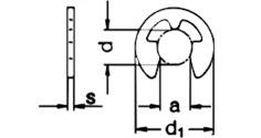 Подбор стопорных колец по диаметру вала